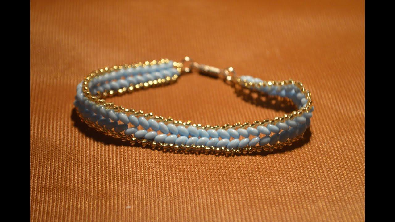 Плетем браслет из бисера косичкой