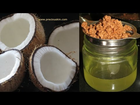 DIY - How To Make Pure Coconut Oil At Home For Skin & Hair   Priyanka George