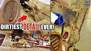 Car Detailing A NASTY Trashed Car! Toyota Highlander Deep Cleaning Disaster Transformation!
