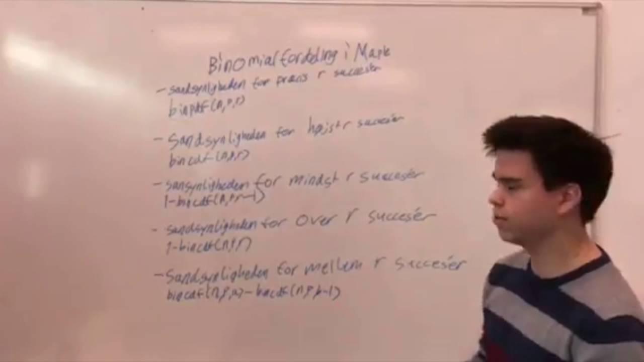 Matematik binomialfordeling Jeppe, Daniel, Mathias og Kevin