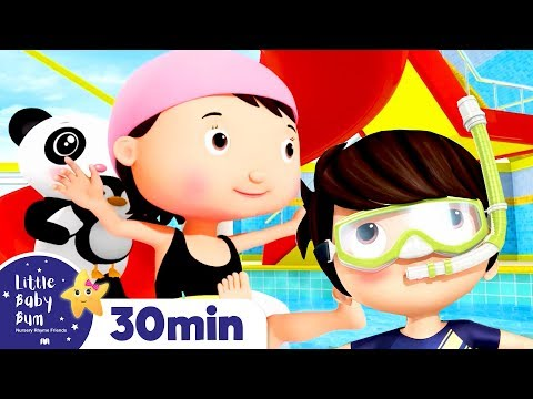 learn-to-swim-song!!-+more-nursery-rhymes-&-kids-songs-|-abcs-and-123s-|-learn-with-little-baby-bum