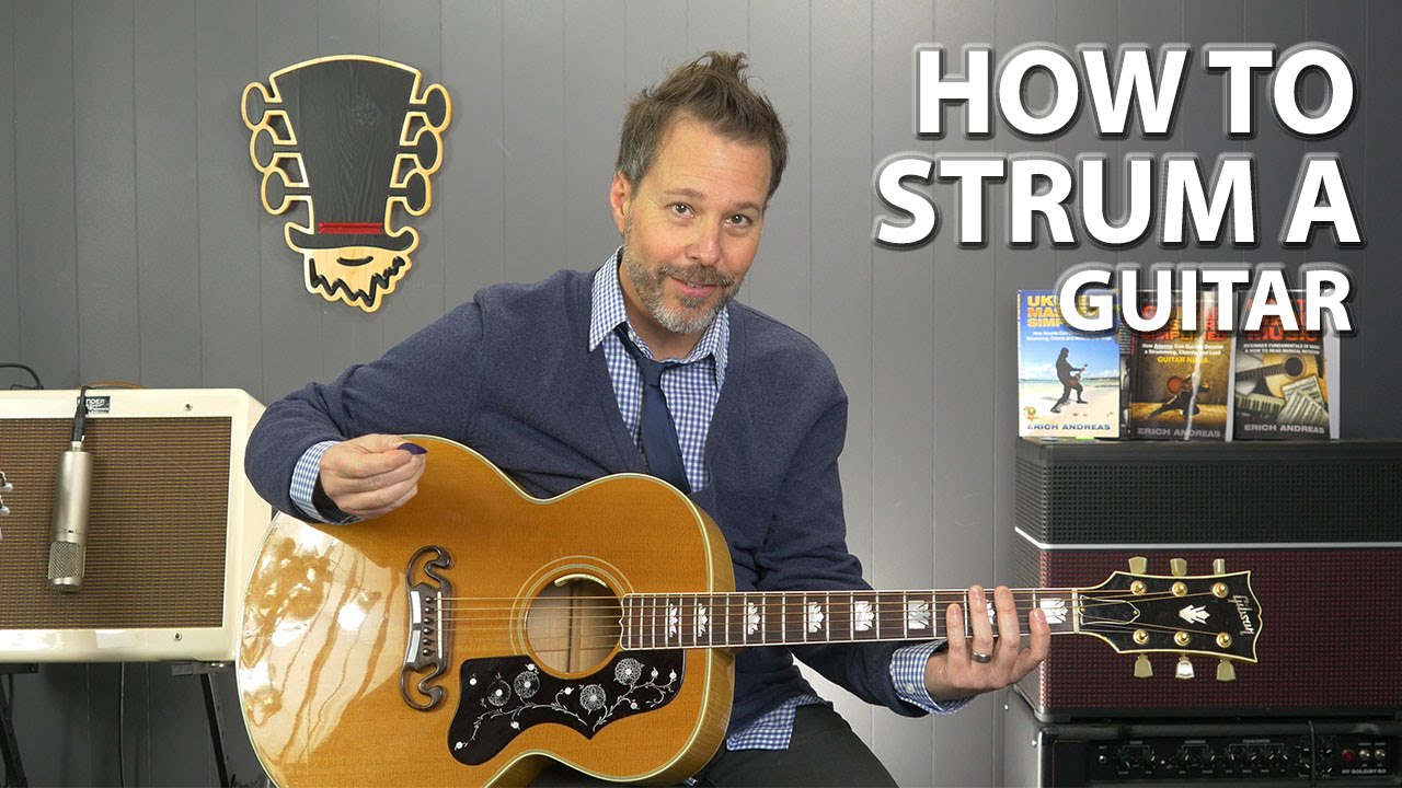 how to strum guitar basic strumming exercises youtube. Black Bedroom Furniture Sets. Home Design Ideas