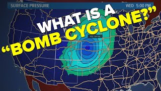 What is a 'bomb cyclone'?