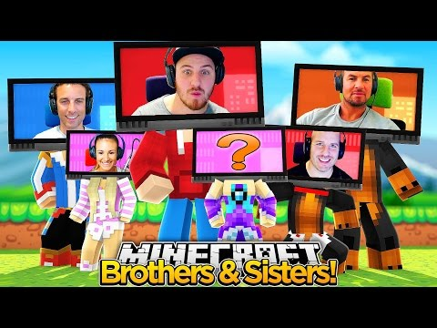 Minecraft Face Cam - BROTHERS & SISTERS FUNNY BATTLE!!!
