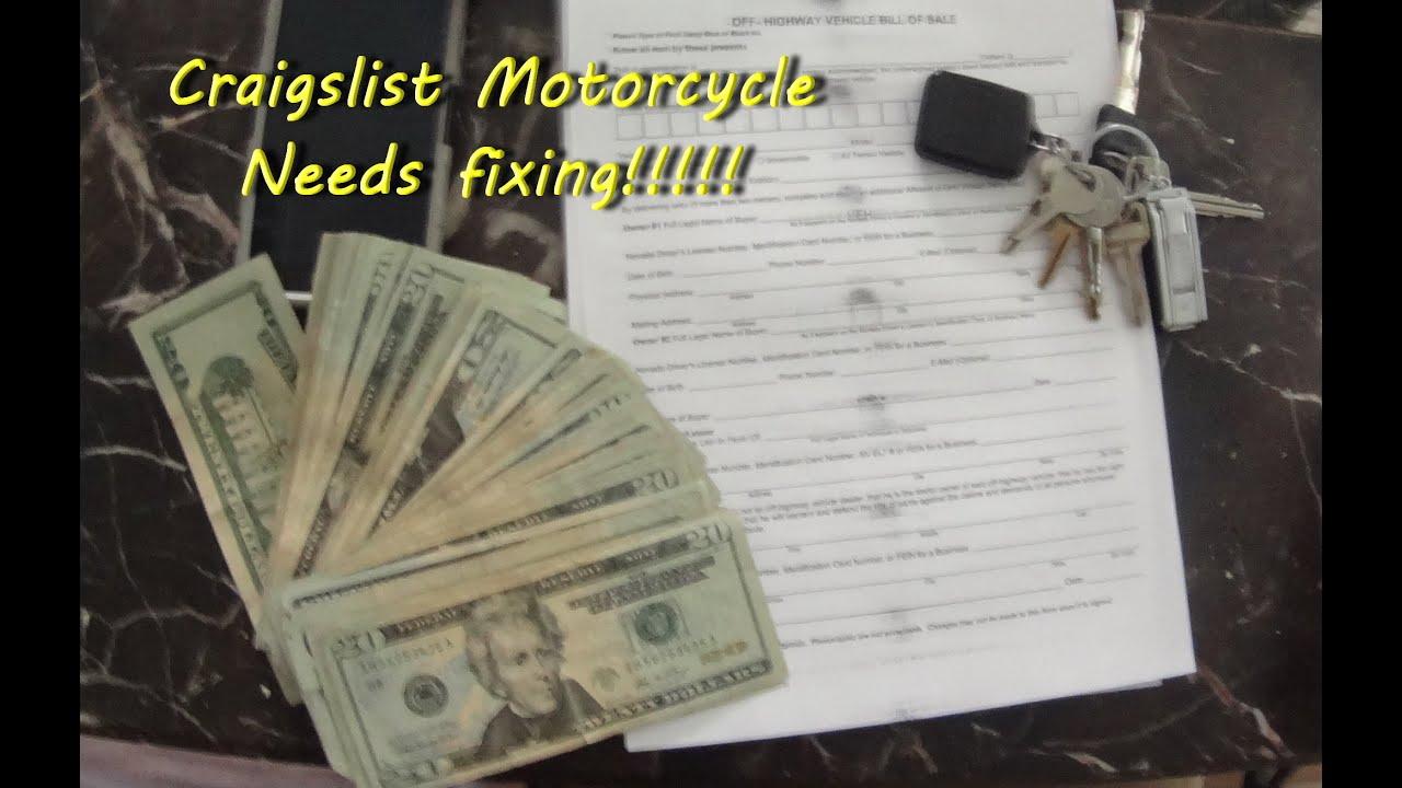Craigslist Motorcycle - Needs fixing!!!!! - Vegas RoManiac