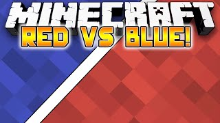 Minecraft: RED VS BLUE PARKOUR! - w/Preston & Kenny!