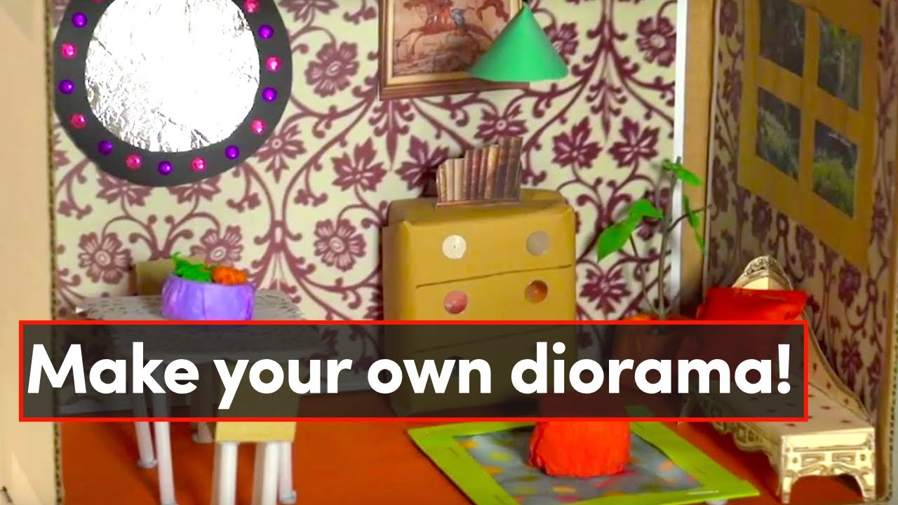 Room in a box - make your own diorama - YouTube