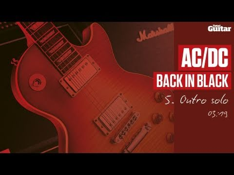 Guitar Lesson: AC/DC 'Back In Black' -- Part Five -- Outro Solo (TG214)