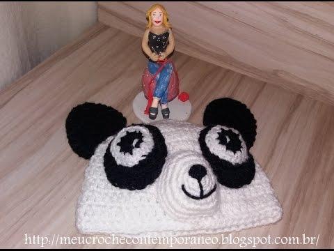 Gorro ou Touca Infantil Urso Panda - YouTube 0a390a965a1