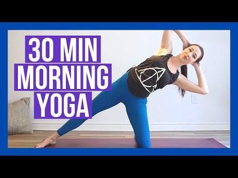 30 min Morning Yoga Stretch to WAKE UP - Sunrise Yoga At Home