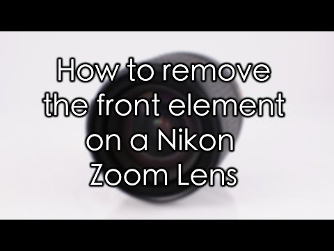 Nikon Zoom Lens Front Element Removal & Fungus Cleaning (18-135mm)