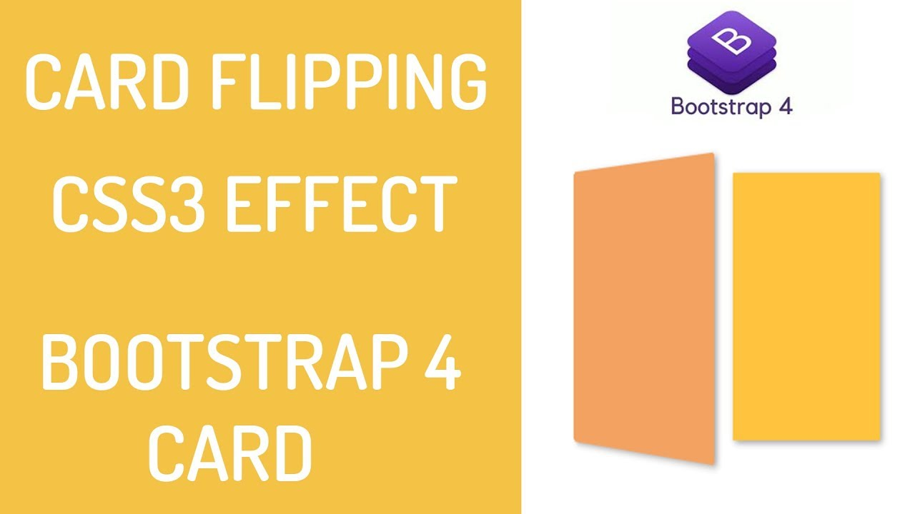 Card Flip Effect - Card Rotation Effect - CSS3 - Bootsrap Card Animation