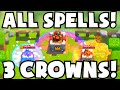 Clash Royale ALL SPELLS THREE CROWNS DECK CHALLENGE | FUNNY/WEIRD 3 CROWN TROLL DECK ATTACK STRATEGY