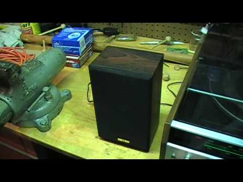 How to open sealed speakers