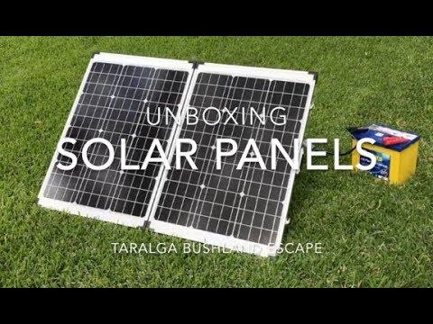 Unboxing the Solar Panel Kit