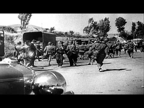Spanish Republic Forces battle hard to keep their control on an area in San Sebas...HD Stock Footage