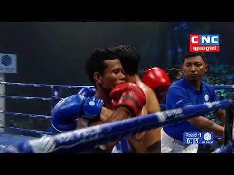 Kun Khmer, ខាំ ខ្លានាង Vs ថៃ,  Kham Khlar Neang Vs Rungsak (Thai), CNC boxing 18 Nov 2018