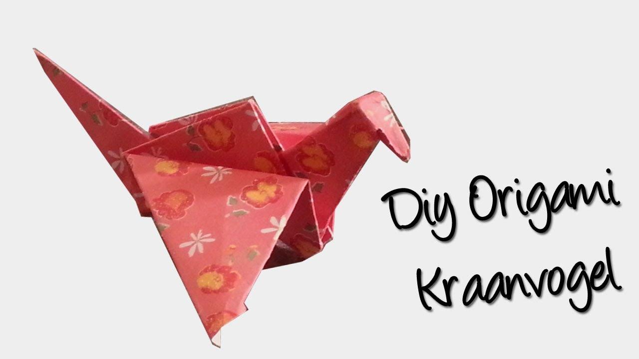 Genoeg Origami KRAANVOGEL | Beginner vouw Tutorial - YouTube #KI15