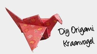 Origami KRAANVOGEL | Beginner vouw Tutorial