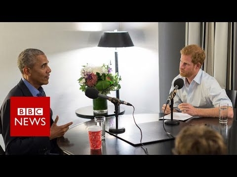 Barack Obama prepares for his Today programme interview with Prince Harry - BBC News