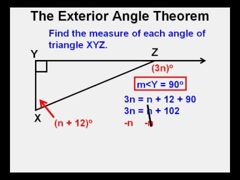 Exterior Angle Theorem   YouTube