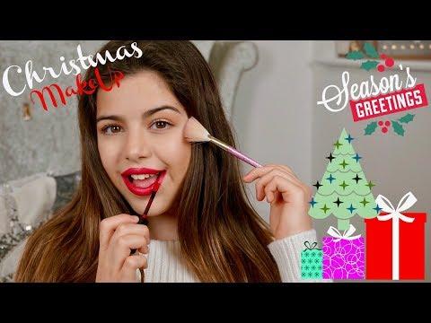 CHRISTMAS MAKEUP LOOK | SOPHIA GRACE