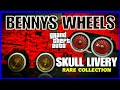 BENNYS WHEELS SKULL LIVERY RARE COLLECTION GTA 5 ONLINE MOD VEHICLES