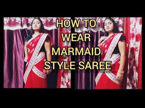 HOW TO WEAR FISH CUT SAREE Ll MERMAID STYLE SAREE DRAPING Ll