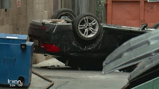 Car plunges from Austin parking garage