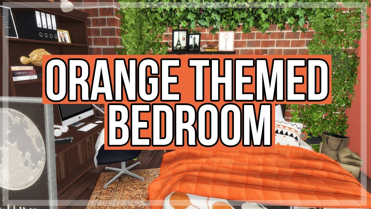 The Sims 4 Room Build Orange Themed Bedroom