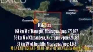 M 6.2 EARTHQUAKE - NEAR COAST OF NICARAGUA March 2, 2014