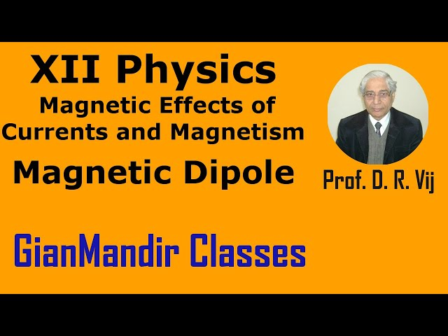 XII Physics | Magnetic Effects of Currents and Magnetism | Magnetic Dipole by Himanshu Sir