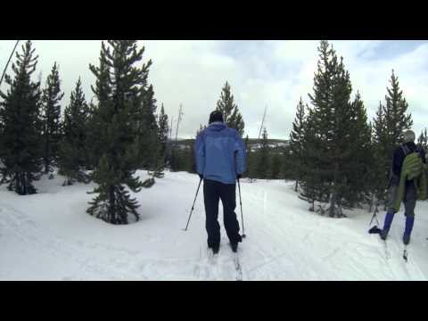 Day 4 Yellowstone Winter Ski Trip Continental Divide & Spring Creek