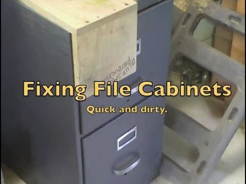 Fixing File Cabinets - YouTube