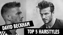 Männerfrisuren TOP 5 ● David Beckham Hairstyling | Men Hairstyling - Frisuren Männer David Beckham