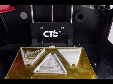 CTC 3D Printer Bridging Settings