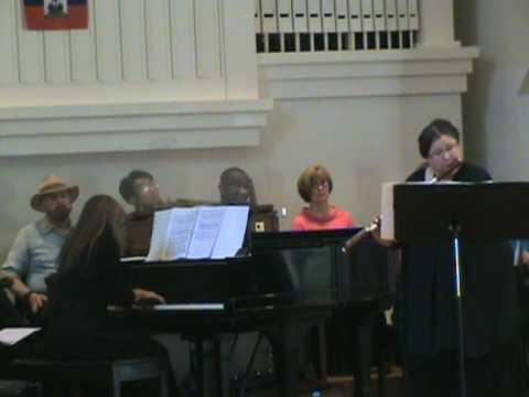 Barbara Neal, flute & Adele Lynch piano performed: Voodoo Jazz Sonata. 05-09-10.