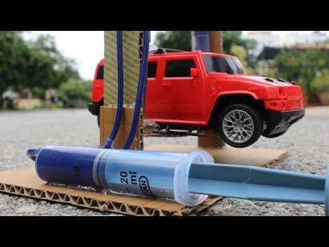How To Make a car service lift - hydraulic lift project