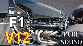 F1 V12 Start Engine Sound Compilation  (HONDA, FERRARI, LOTUS,...)