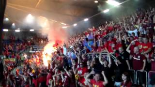 Plzeň - Sparta 17.8.2013 choreo a pyro