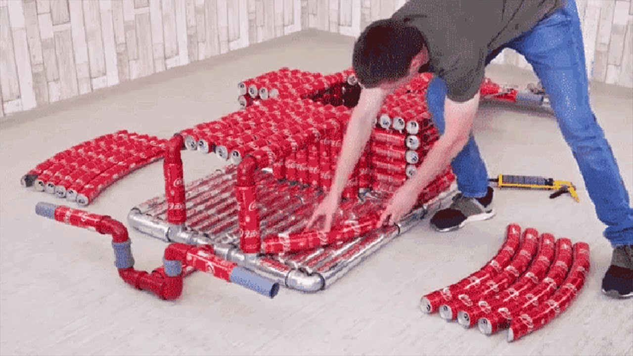 Coca Cola Car Made Out Of Cans | Viral Videos Of The Day