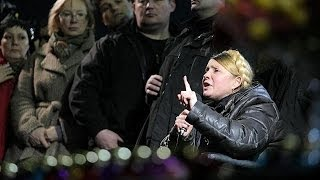 Yulia Tymoshenko calls on protesters to remain in Maidan