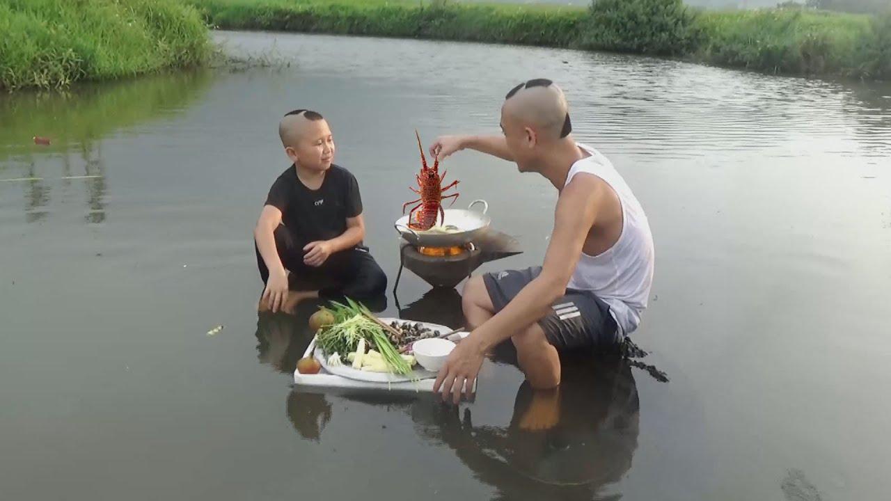 Ăn Lẩu Giữa Suối Và Cái Kết - Cười Há Mồm Với Mao Đệ Khi Đang Ăn Lại Gặp Trời Mưa