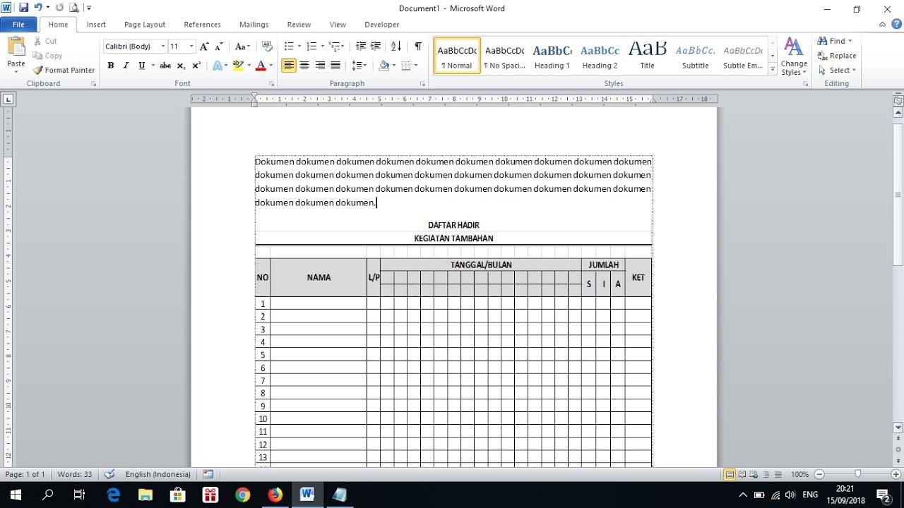 Cara Copy Tabel Excel Ke Word Agar Hasilnya Rapi Youtube