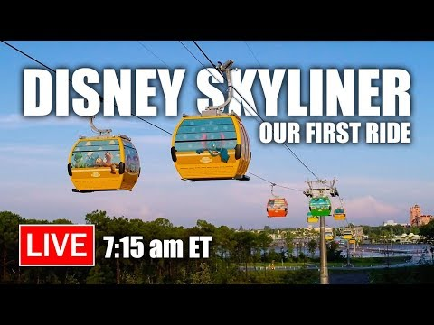 🔴 Live: Disney Skyliner - OUR FIRST RIDE! | Walt Disney World