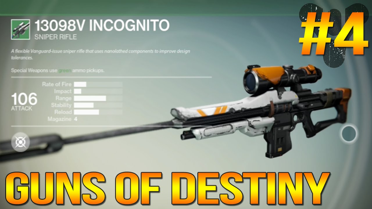 guns of destiny 4 incognito sniper rifle character updates