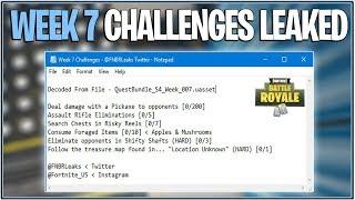 *NEW* Fortnite: WEEK 7 CHALLENGES LEAKED FOR BLOCKBUSTER! | (Season 4 Week 7)