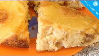 Воздушный пирог с ананасами