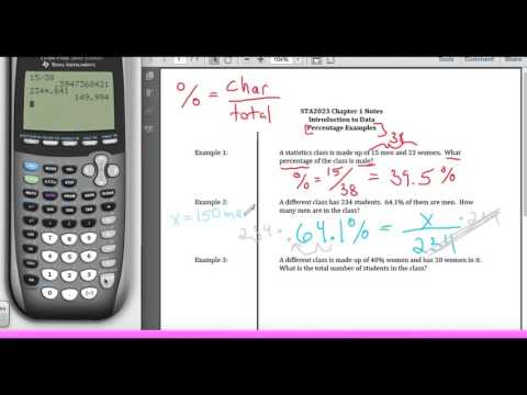 STA2023 Chapter 1 Video 3 Percentage Examples