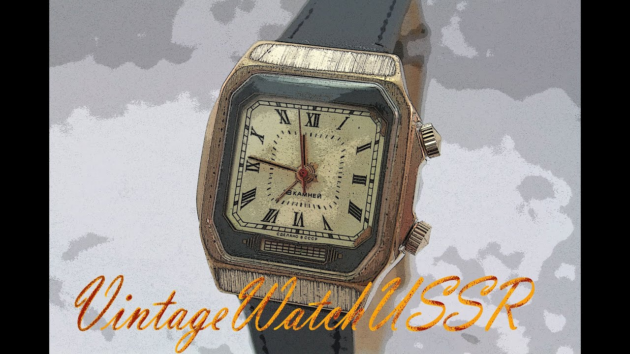 eaa5acc18069 Instructions for using mechanical Soviet military watch square Poljot Alarm